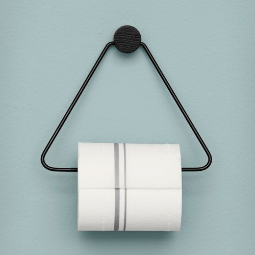 The Black Toilet Paper Holder From Ferm Living Is Both Beautiful And  Functional, A Perfect Accessory For Any Bathroom.