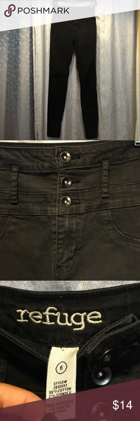 High waisted 3 button jeans Charlotte Russe refuge 3 button high waited jeans- previously loved Charlotte Russe Jeans Skinny