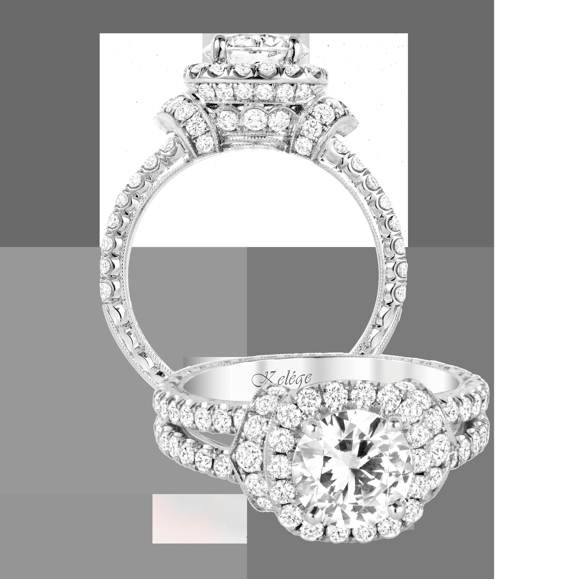 KGR 1165 18k Gold Engagement Ring 18k gold engagement