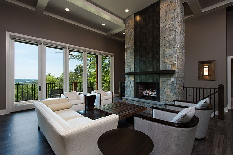 The Laurelwood House Plan - Great Room | Fireplace | Pinterest ...