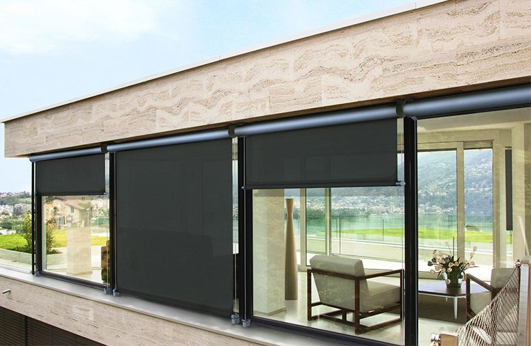 Screen Rolo Pergola Cost Diy Awning Roller Blinds