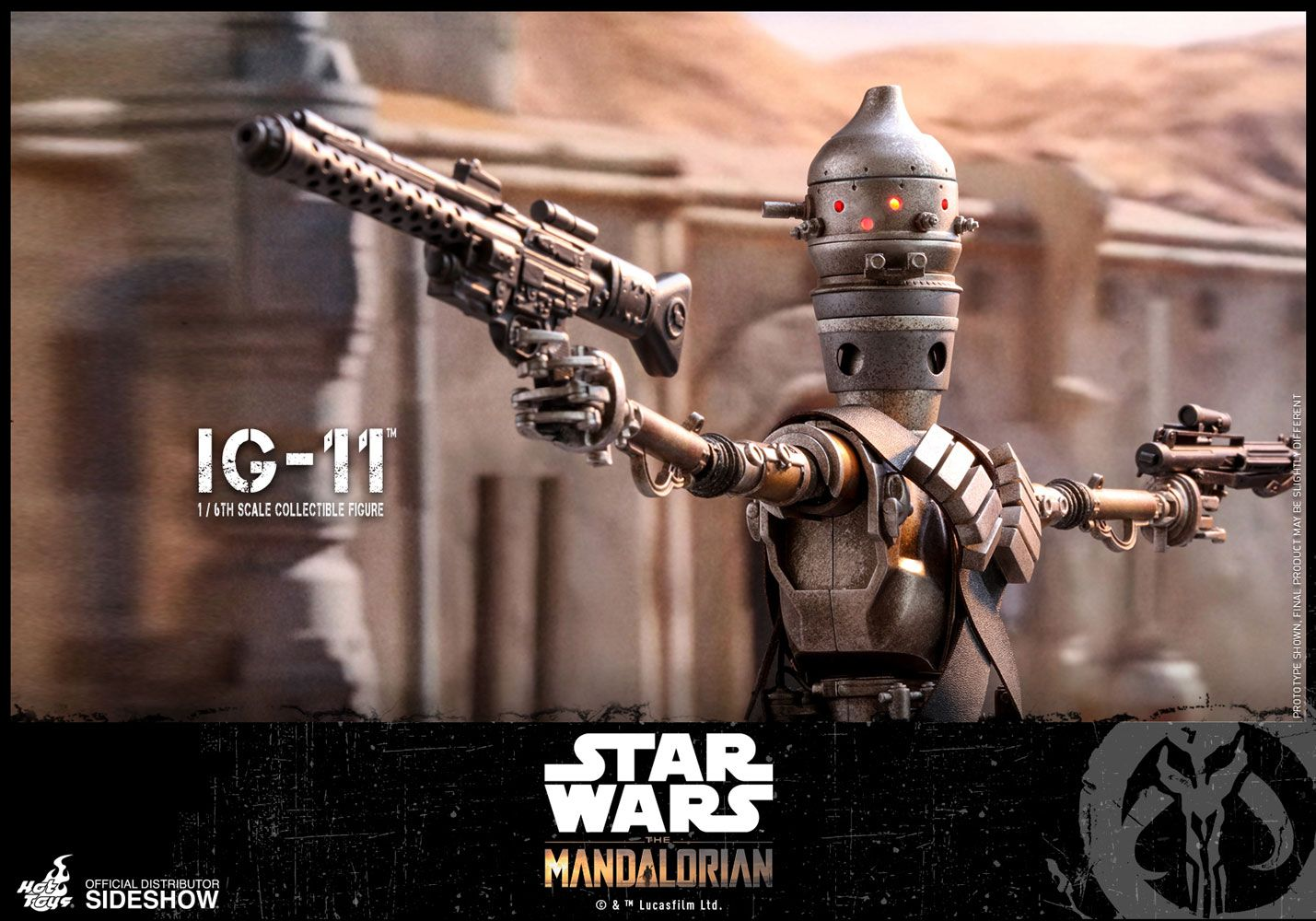 IG-11 Sixth Scale Figure - Prototype Shown by Hot Toys The Mandalorian - Television Masterpiece Series