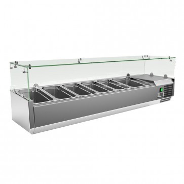 Coldline Vrx1500 60 Refrigerated Countertop Salad Bar Glass