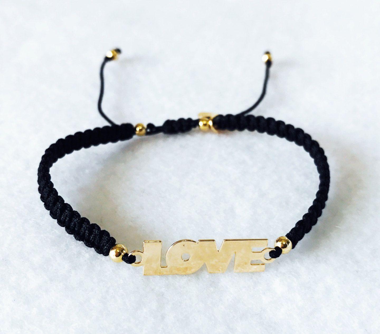 Weekly bracelet black bracelet adjustable bracelet thread