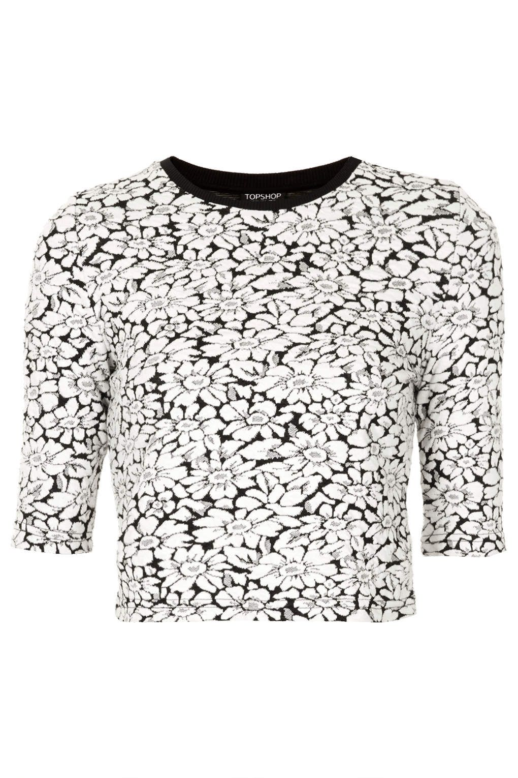 Mono Floral Top | http://www.topshop.com/en/tsuk/product/clothing-427/tops-443/crop-tops-2289261/mono-floral-crop-top-2588924?refinements=category~%5b715507%7c208524%5d&bi=1&ps=200