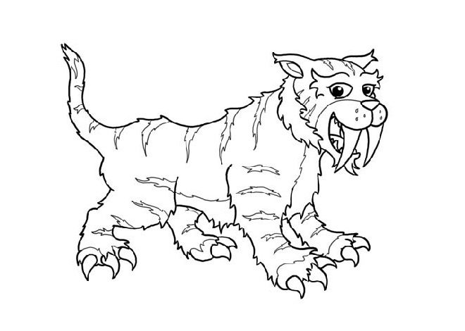 Sabertooth Tiger Coloring Pages For Kids Ge8 Printable Lions And Tigers Coloring Pages For Kids Sabertooth Tiger Sabertooth Graphic Design Projects