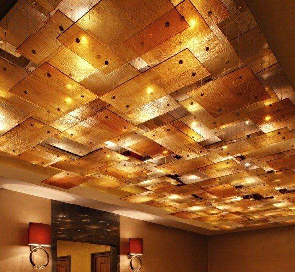 faux plafond moderne comme élément décoratif de l'intérieur | faux ... - Faux Plafond Suspendu Decoratif