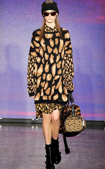 All in Abstract Leopard Print I DKNY Fall Winter 2013 #Fall2013 #trendy #leopard #print