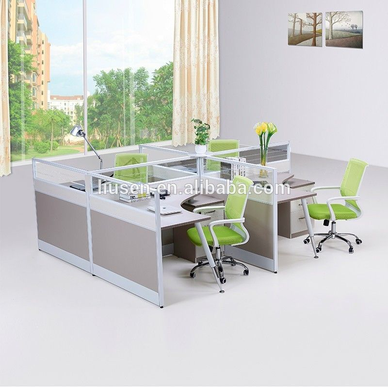 Excellent quality modular furniture 4 person office desk partition glass partitions buy office - Quality office desk ...
