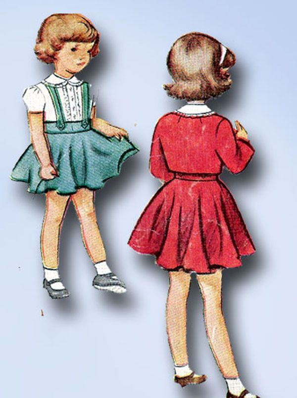 1940s Vintage Toddler Girls 3 Pc Suit 1948 McCall VTG Sewing Pattern ...