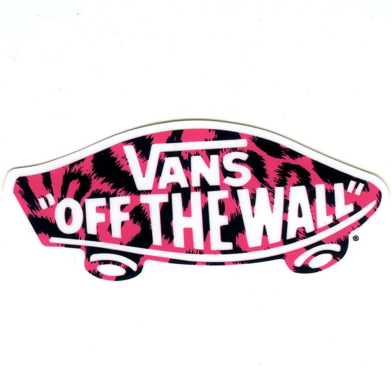 #1379 Pink Camo Black VANS OFF THE WALL , 10 Cm , Decal Sticker   Part 87