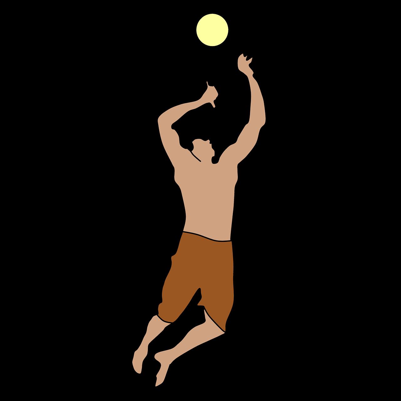 Vacation Volleyball Jumping Air Playing Vacation Volleyball Jumping Air Playing I Am Game Volleyball Air