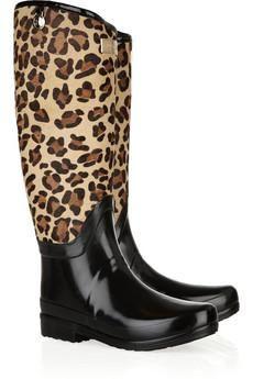 leopard hunter rain boots
