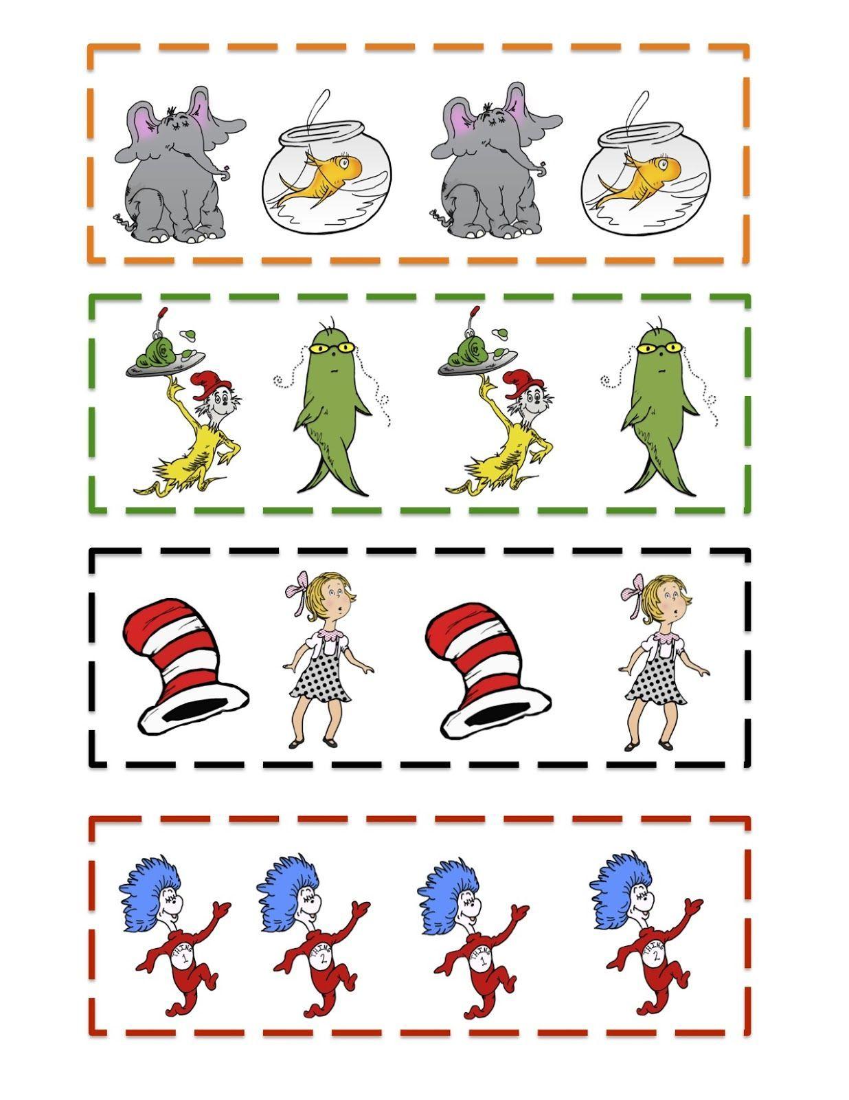 Preschool Printables Dr Seuss Kindergarten Dr Suess