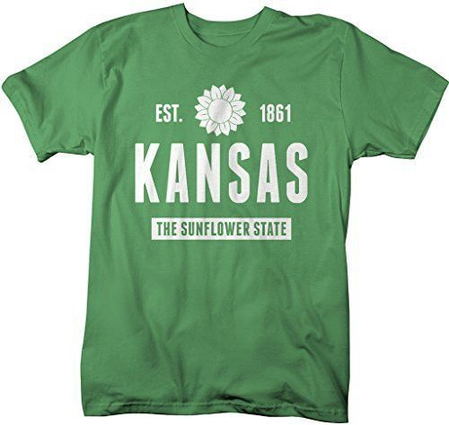 Show off some Kansas pride in this state Nickname t-shirt. The Sunflower State. Our state pride t-shirts are great for vacations or just because you love the state your in. Kansas became part of the u