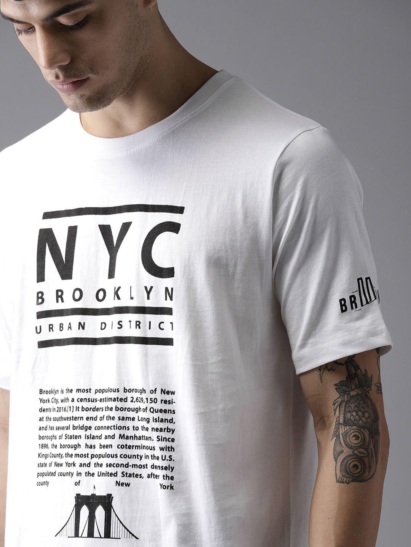 8feee9c89 Buy Moda Rapido Men White Printed Round Neck T Shirt - Tshirts for Men  5613513 | Myntra