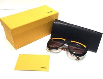826b7a9eee10 5198 Runway Model Yellow and Black Sunglasses Box GREAT