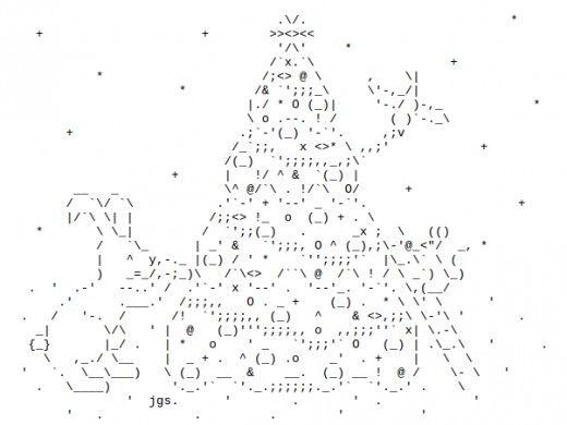 Ascii Christmas Tree Noel Et Nouvel An One Line Ascii Art Text Art Ascii Art