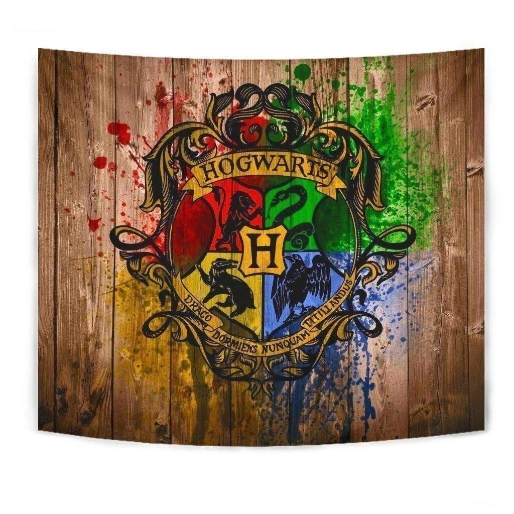 Harry Potter Badge Tapestry Decor Gift Idea