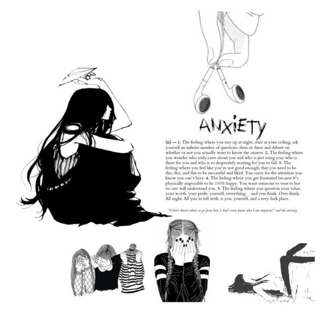 """ANXIETY"" by corpseskeleton ❤ liked on Polyvore"