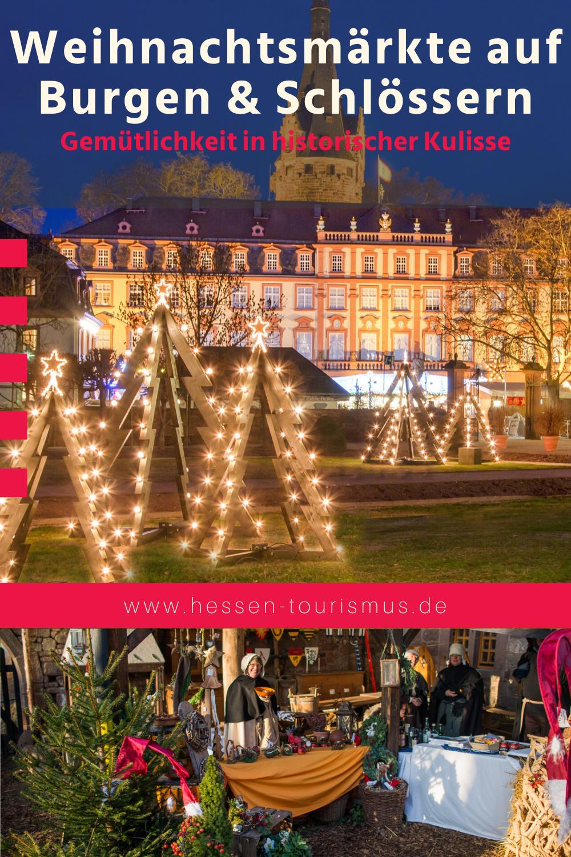 Weihnachtsmärkte auf Burgen & Schlössern in Hessen