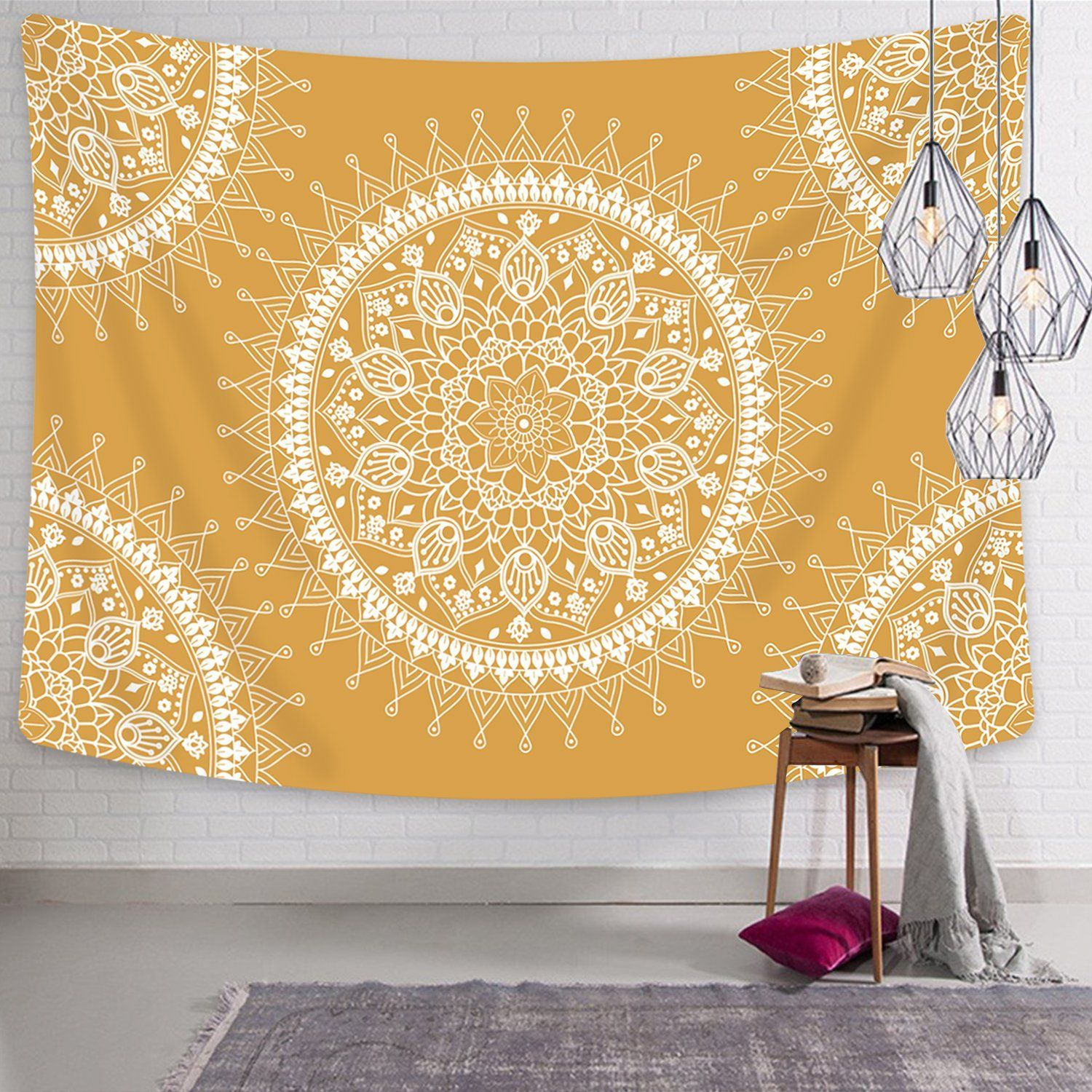 Tapestry Mandala Hippie Bohemian Tapestries Wall Hanging Flower Psychedelic Tapestry