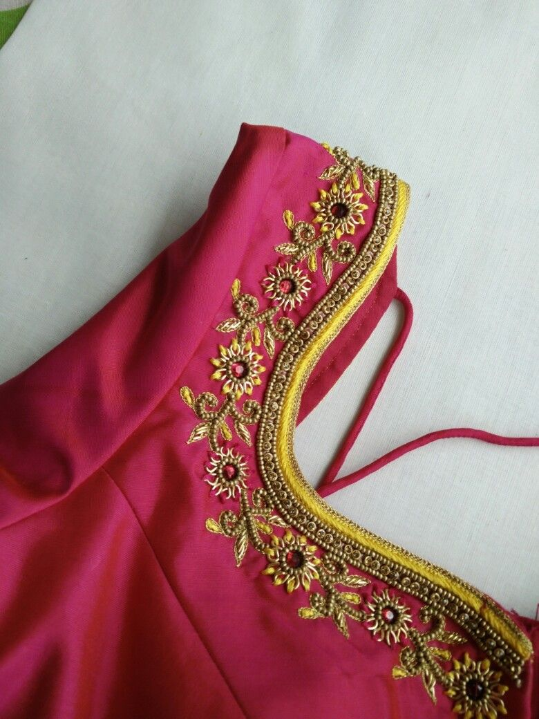 Maggam Works Embroidery Art In 2019 Silk Saree Blouse