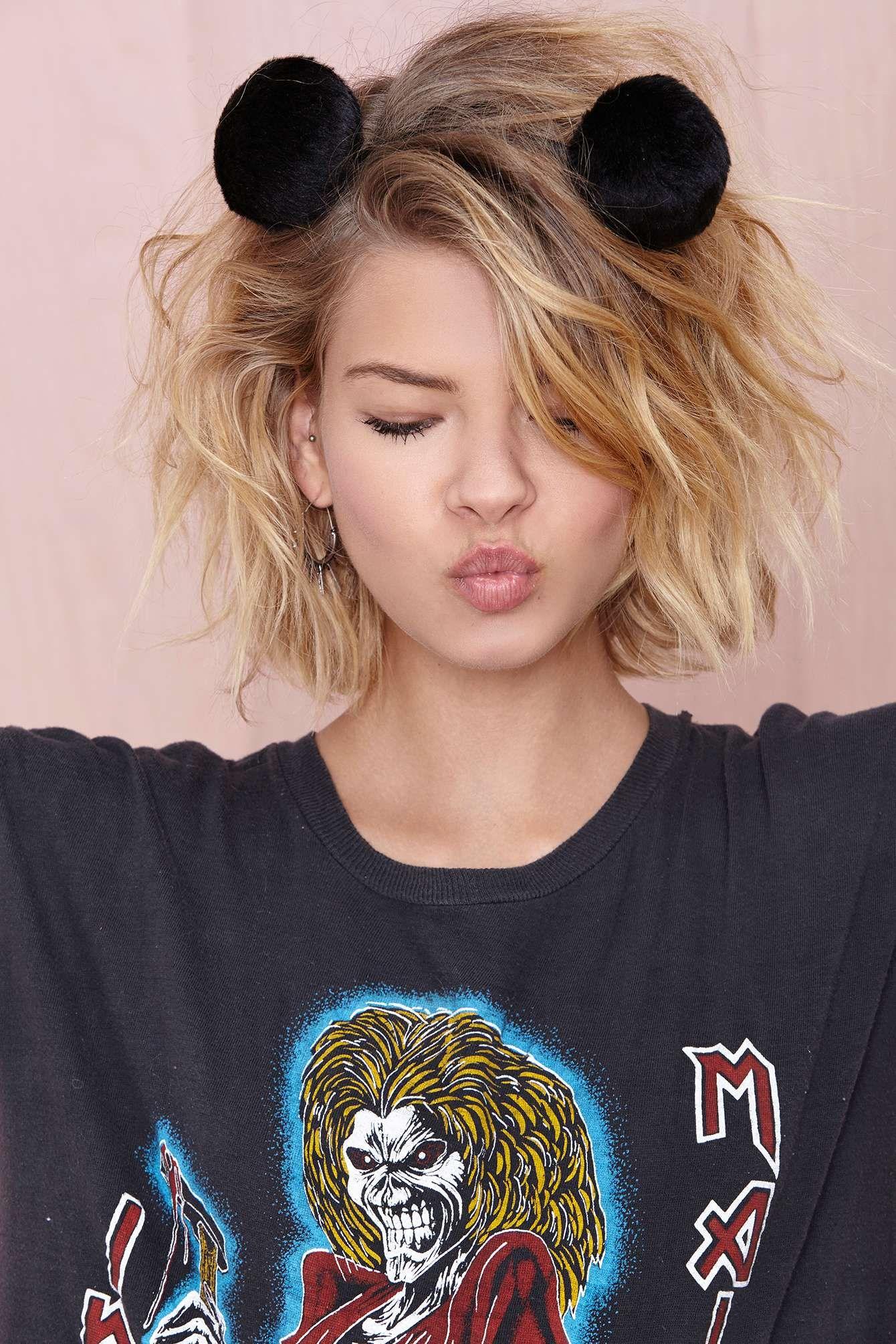 You da pom headband shop accessories at nasty gal short hair