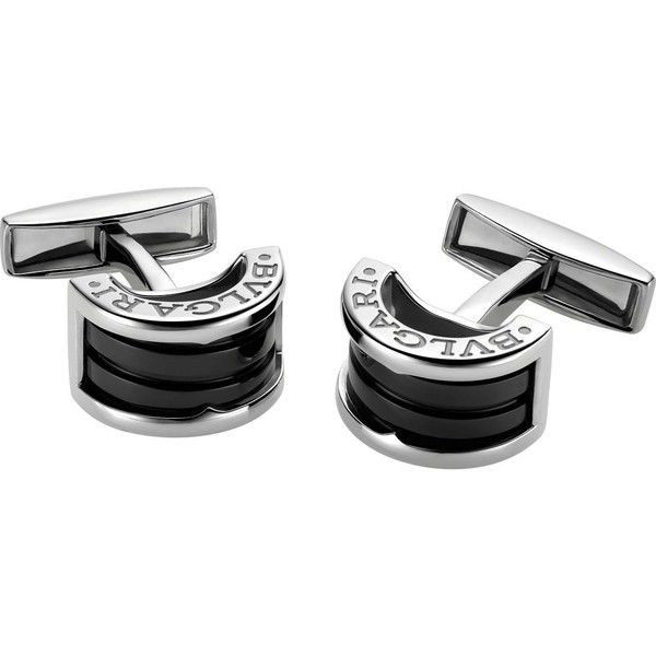 c46103d1906a BVLGARI B.zero1 sterling silver cufflinks (60320 RSD) ❤ liked on Polyvore  featuring men s fashion