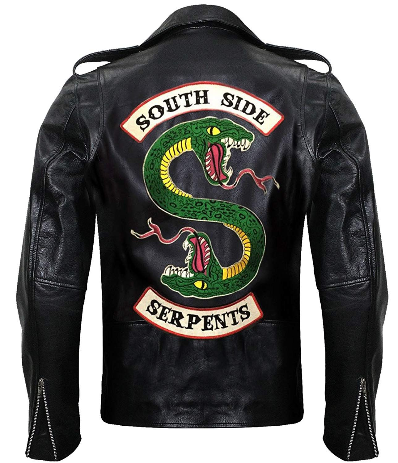 BEST SALE Riverdale Southside Serpents Gang Embroidery Snake Leather Jacket