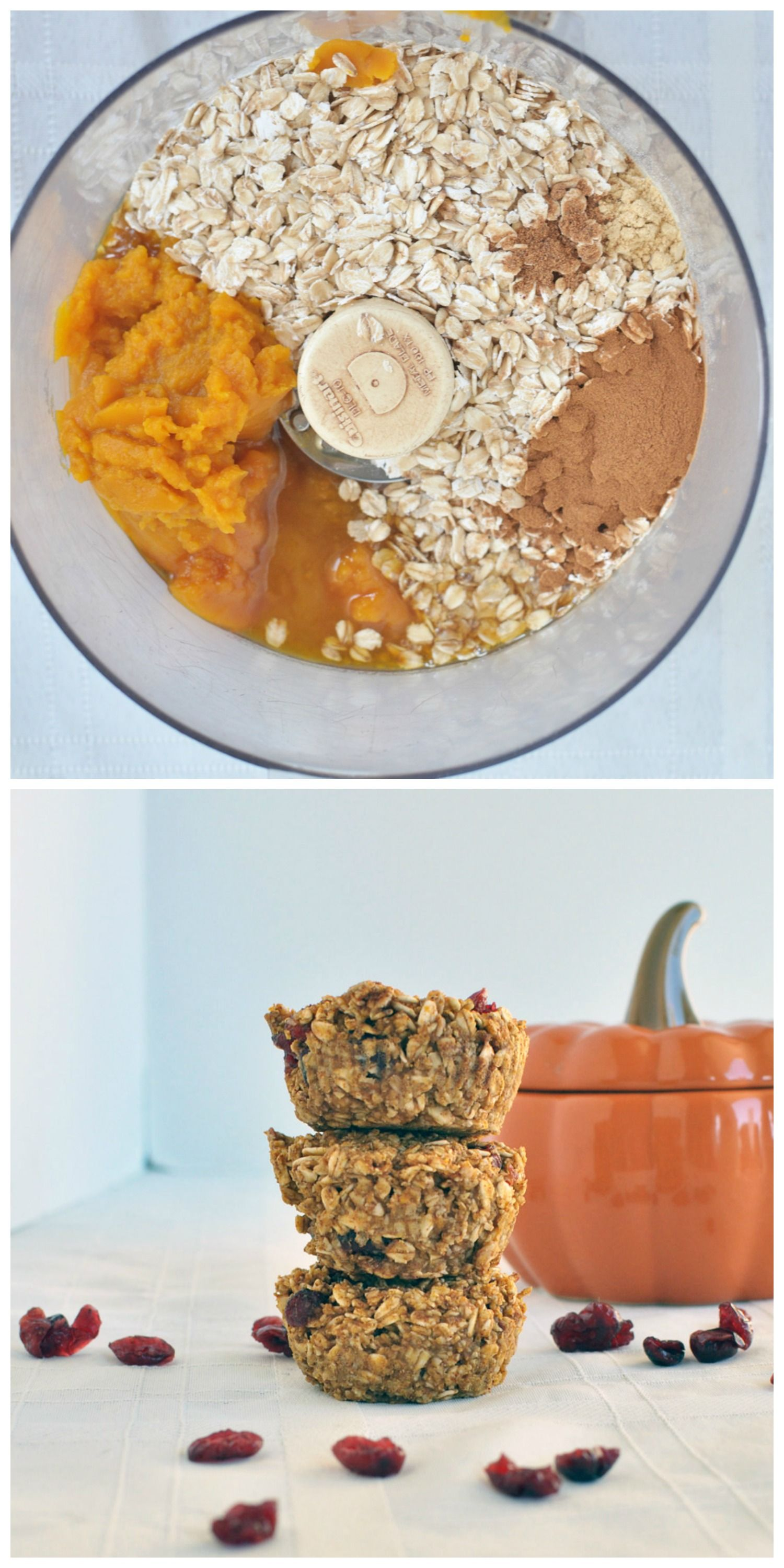 All you need is 7 ingredients and 15 minutes to make these healthy flourless pumpkin muffins. Vegan and gluten free. Perfect for Fall. #pumpkinmuffins