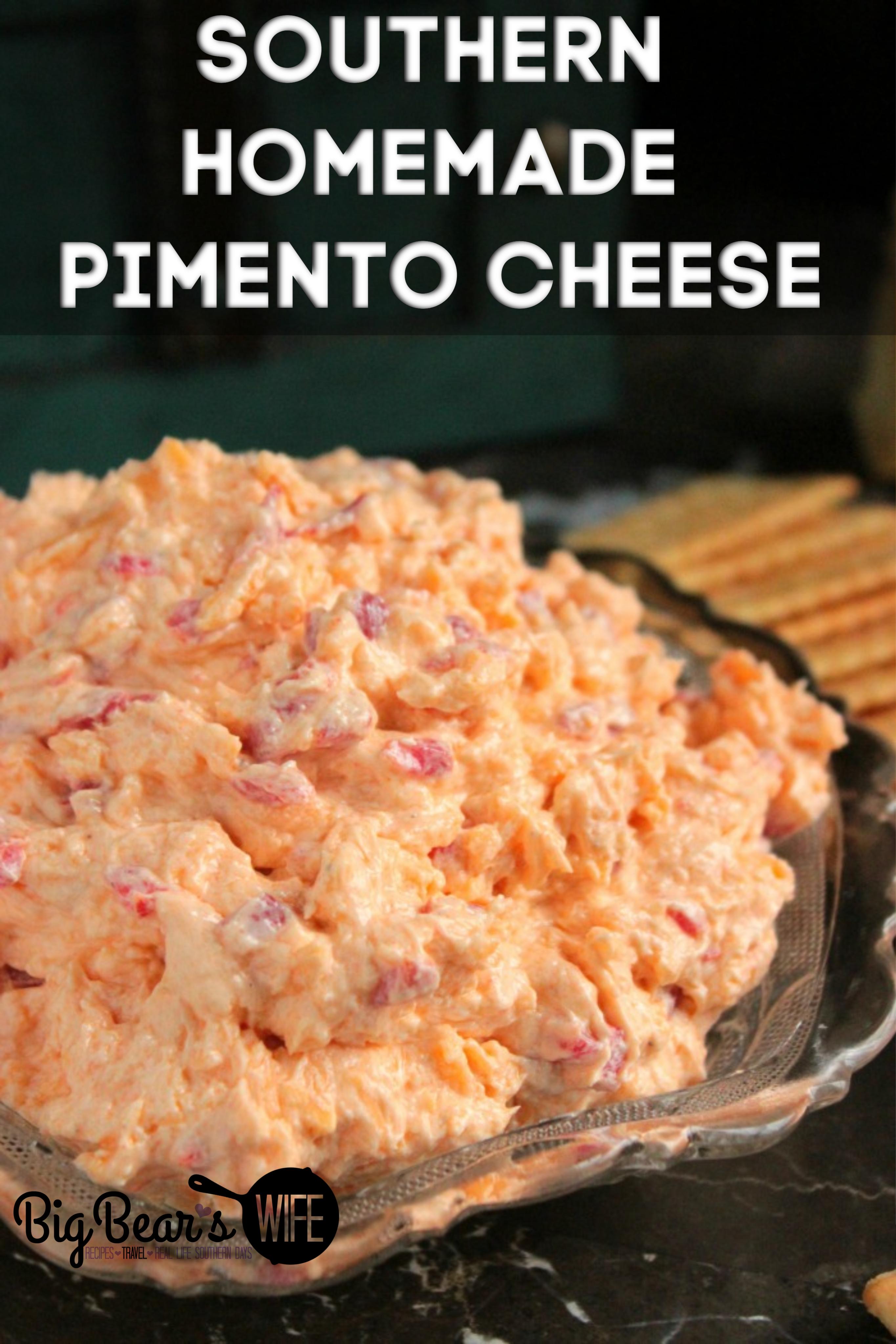 HOMEMADE PIMENTO CHEESE -