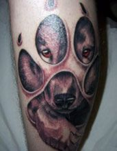 I like this idea for a tattoo and have my dog's portrait in it.