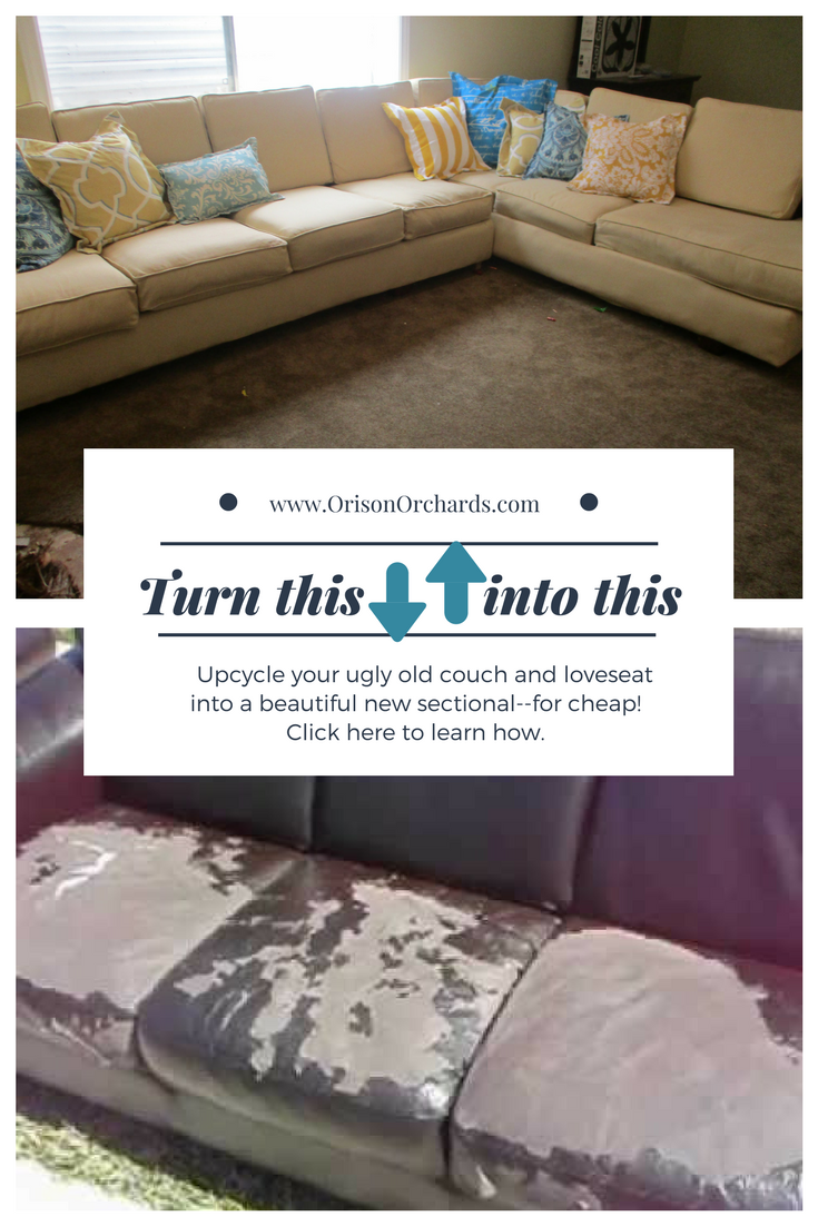 Upcycle an old couch into a NEW custom sectional--for CHEAP ...
