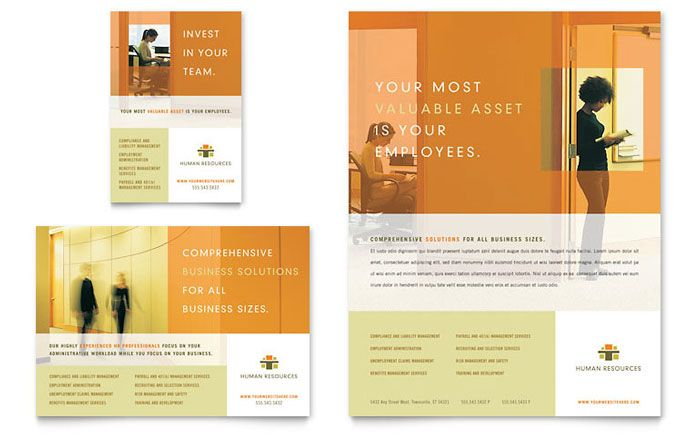 HR Consulting Flyer And Ad Design Template By StockLayouts Idea - Consulting brochure template