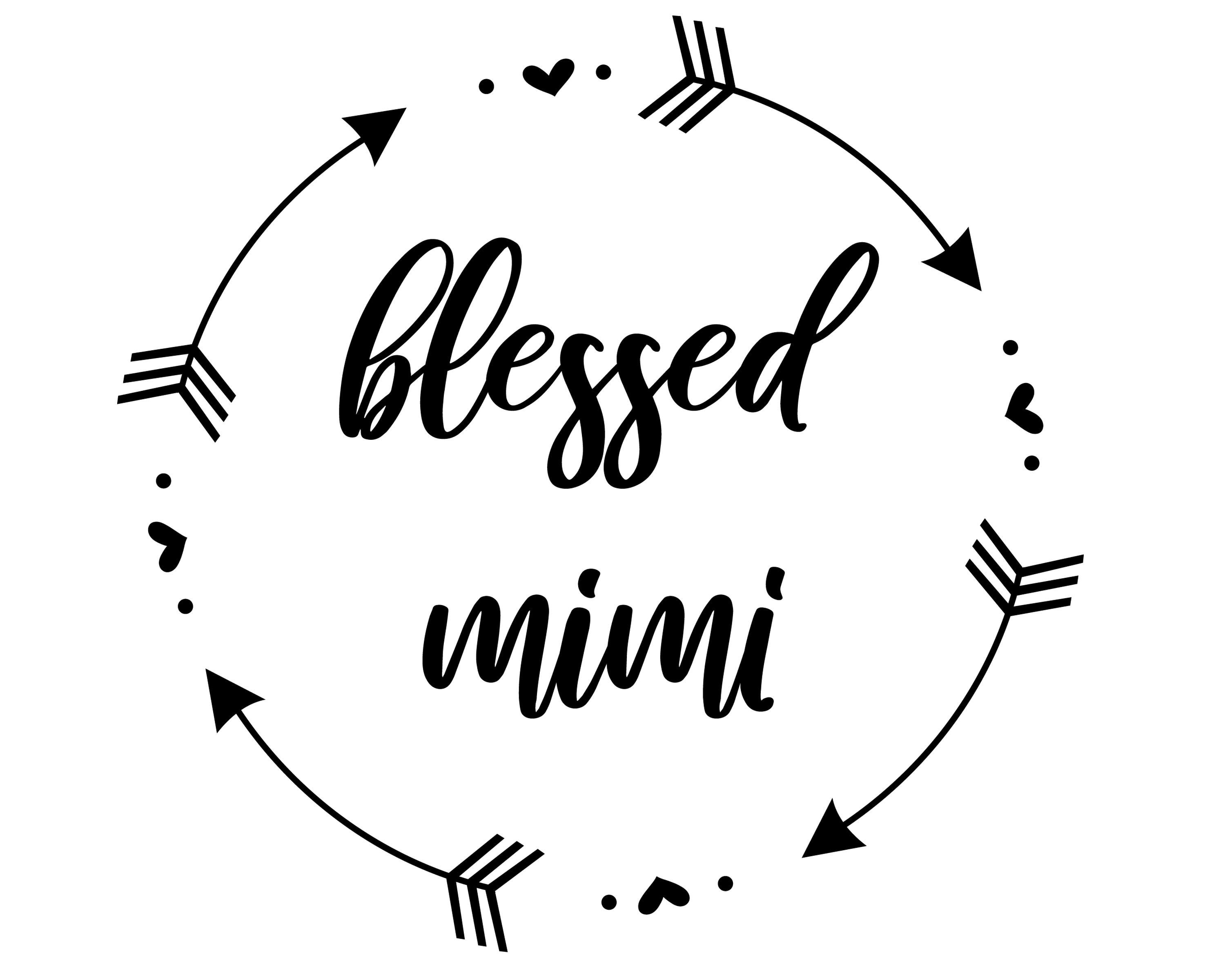 Blessed Mimi svg Arrows and hearts wreath svg blessed svg