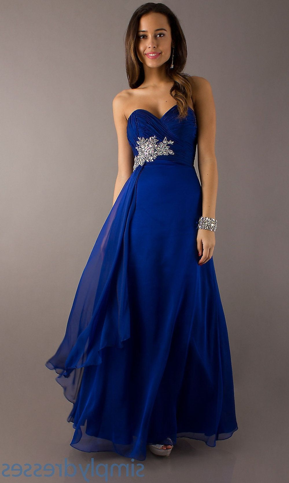 Royal blue and silver wedding gowns royal blue