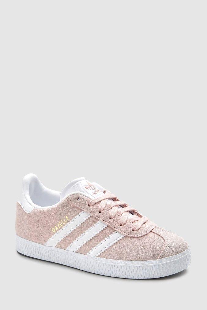 Girls adidas Originals Pale Pink Gazelle Trainers Pink