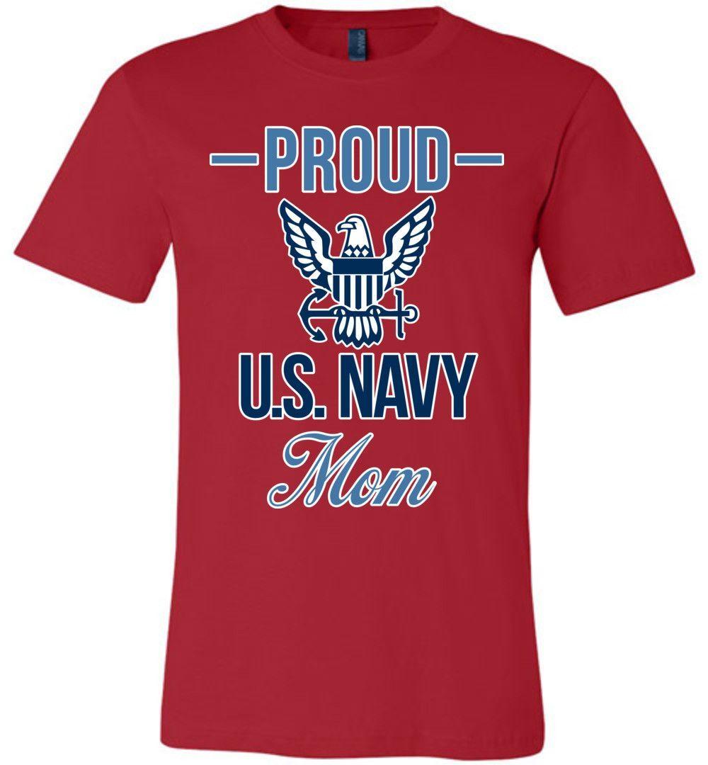 Proud U.S. Navy Mom Canvas Unisex T-Shirt