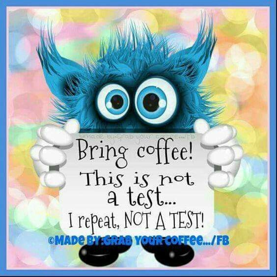 Bring Coffee This Is Not A Test Coffee Morning Good Morning Morning Quotes  Good Morning Quotes Morning Quote Good Morning Quote Cute Good Morning  Quotes ...