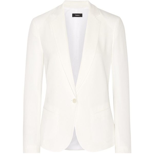 4d34649338dc Theory Robiva crepe blazer (€490) ❤ liked on Polyvore featuring outerwear,  jackets