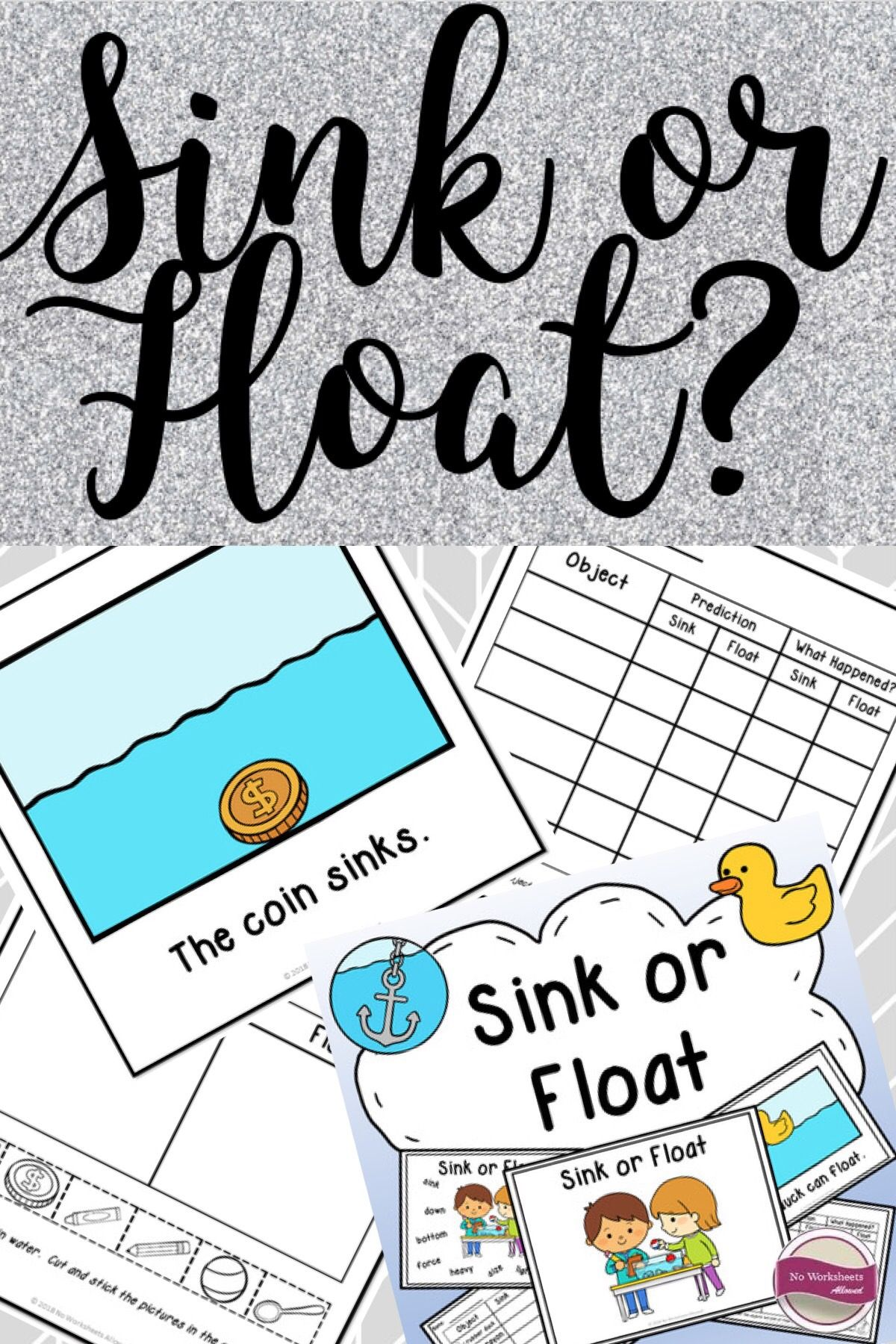 Sink Or Float Experiments Activities Emergent Reader And