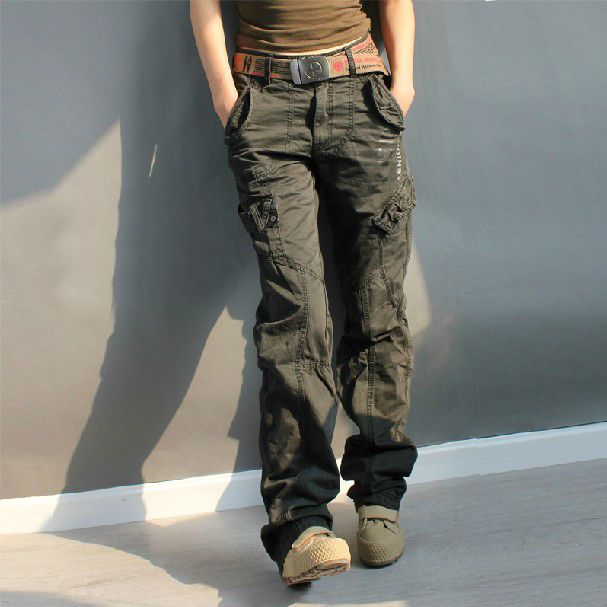 b69d7cb97b4 Online Shop 2015 plus size Women s Thick Cotton Combat Hip Hop Baggy Multi-Pockets  Trousers Womens Army Fatigue Pants Camouflage Cargo Pants