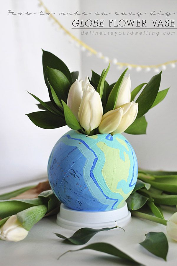 DIY Globe Flower Vase   Bloggers' Best DIY Ideas   Pinterest   DIY on pinterest diy flower boxes, gold spray paint a glass vase, easy diy flower vase, diy gold vase, pinterest diy flower art, pinterest diy flower wreath, pinterest diy flower decor, pinterest diy flower frame,
