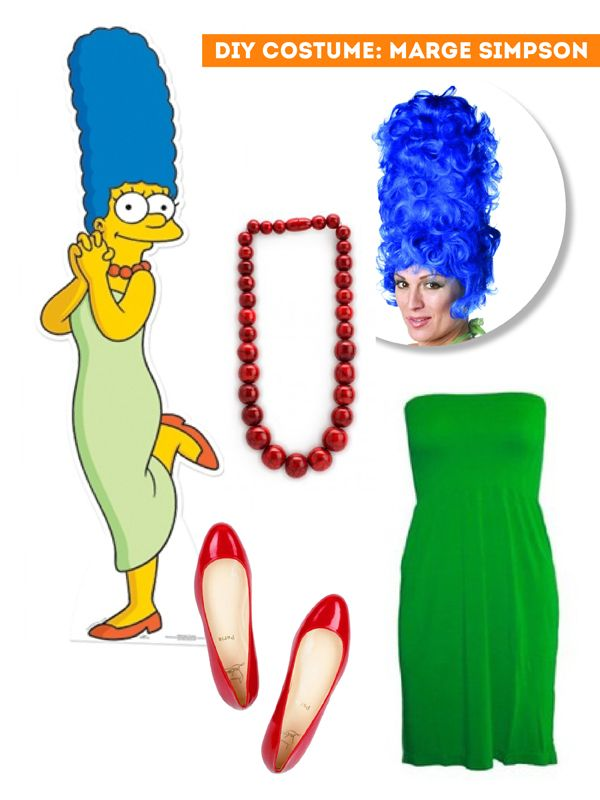 5223bdd5b48 DIY Thift Shop Halloween Costumes - Marge Simpson   The Sweet Escape