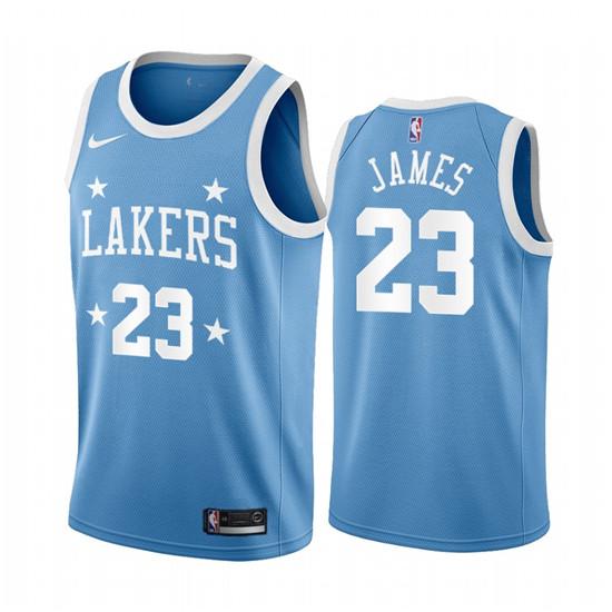 2020 Nike Lakers #23 LeBron James Blue Minneapolis All-Star ...