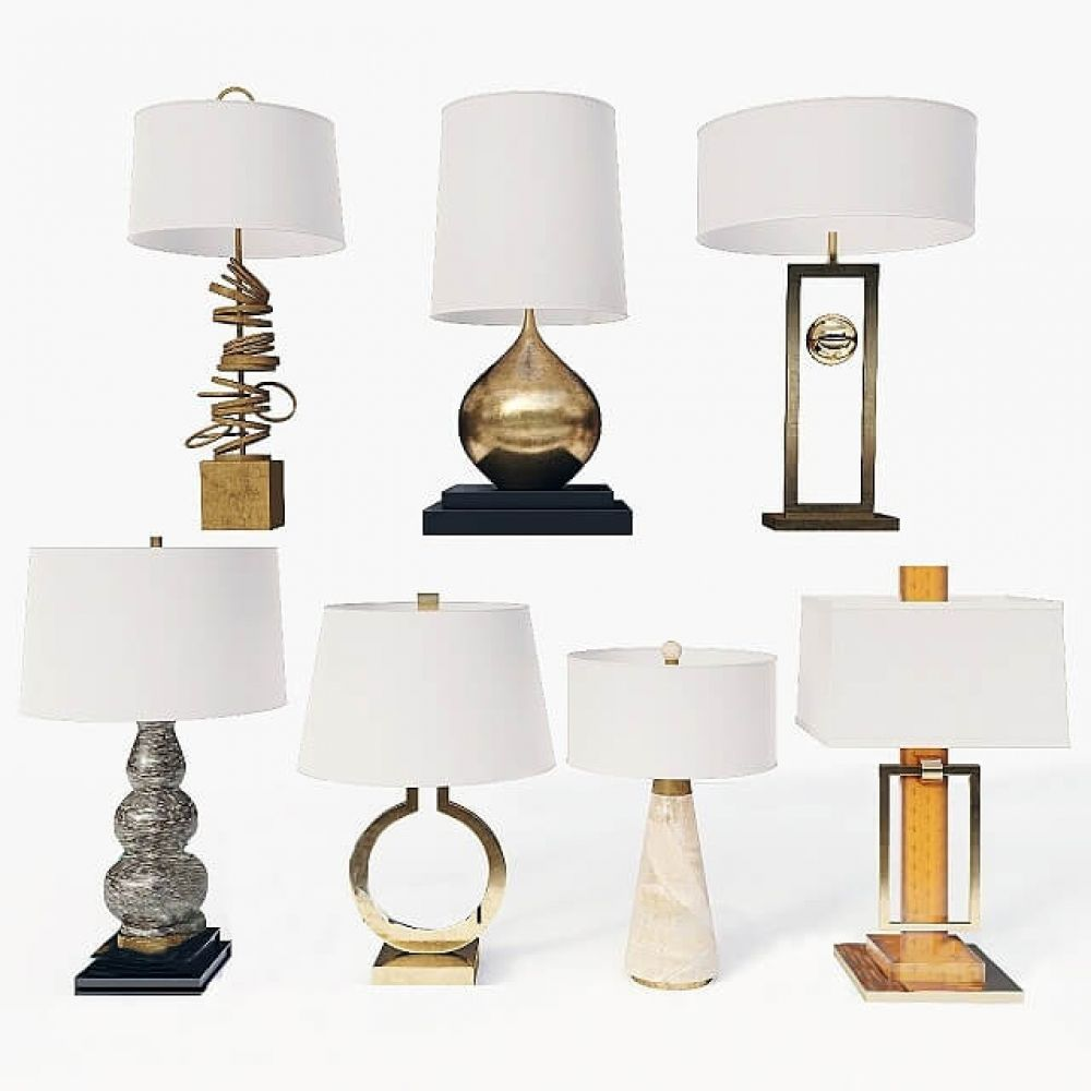 Collection Of Table Lamps 3d Model Table Lamp Lamp Lamp Sets