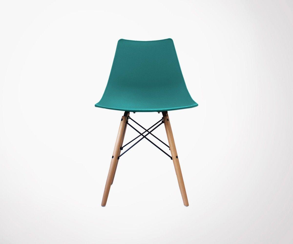 Chaise Plastique Pieds Bois Design Scandinave Inspiree Grand Designer