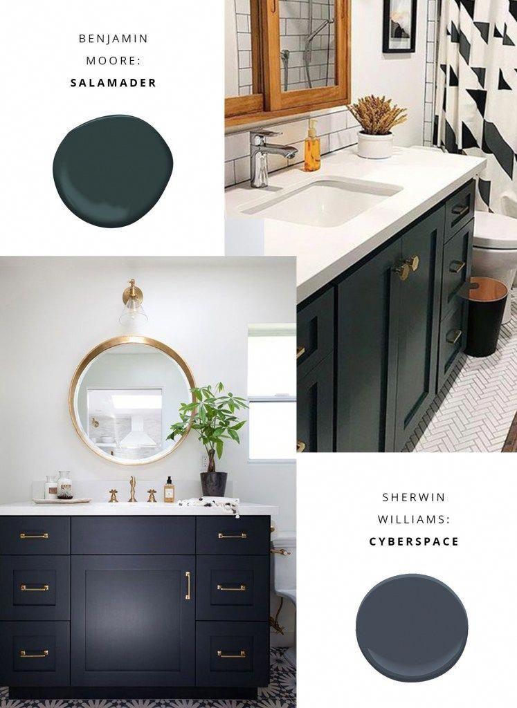 Small Bathroom Vanity Color Ideas Benjamin Moore Salamander Sherwin Williams Cyberspa Bathroom Vanity Makeover Bathroom Vanity Redo Small Bathroom Makeover