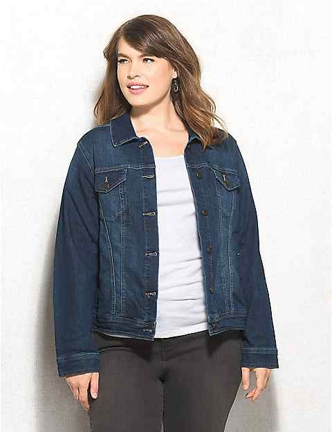 Plus Size Classic Denim Jacket | dressbarn | Emily's Closet